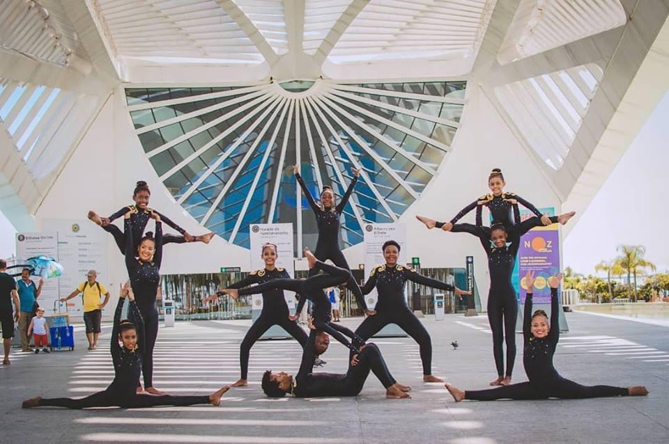Atletas do projeto Ginastas do Futuro